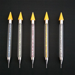 Double Head Nail Dotting Pen Multi Function Rhinestone Crayons Diy Wax Pencil With Storage Box Mulit Color 5 3hp E1