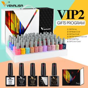 Fast delivery VIP2 gel nail polish set new 60 colors nail polish uv gel basecoat primer topcoat color book full set