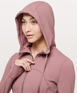 النساء مقنع سترات تحديد اليوغا السريع البدلة   أولو   ايمون الملابس ملابس خارجية معاطف