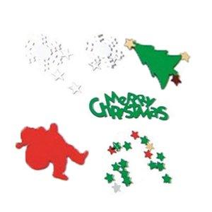 Un sac de Noël Confetti Tableau coloré Confetti Creative Design Décoration de Noël Ensemble (coloré Pentagram, flocon de neige, Sant