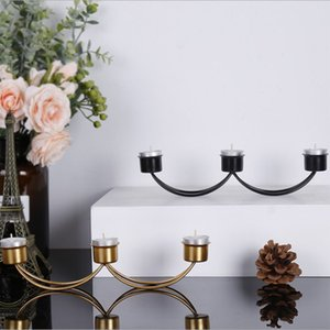 Triple-Geometric Kerzenleuchter Nordic Minimalist Art Ornaments Wandleuchte Passende stählerne Small Teelichtkerzenhalter