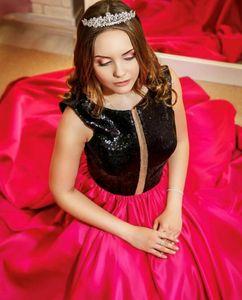 Quinceanera Kleider 2019 Modest Sweet 15 Ballkleid Funkelnder Pailletten Schlüsselloch Debutante Kleider Vestidos DE 15