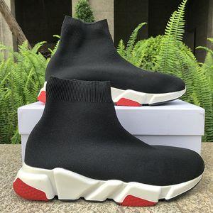 Speed Trainer High Mens женщин кроссовки повседневная обувь Black Red White Royal верхнего качества способа носки сапоги стилиста обувь 36-45