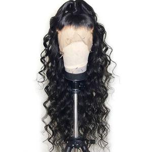 360 dentelle frontale perruque de cheveux brésiliens de 130% de densité 360 perruque de dentelle pour pour les femmes noires pré pincé naturel délié avec des cheveux de bébé