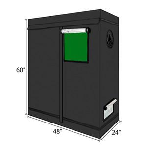 LY-120 * 60 * 150 cm Inicio Uso planta hidropónica desmontable Carpa Creciendo con la ventana verde Color Negro