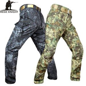 Mege Şövalye Bant Giyim Taktik Kamuflaj Askeri Pantolon Erkekler Rip-stop Swat Asker Savaş Pantolon Militar Çalışma Ordu Kıyafet C19041602