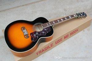 Atacado guitarra Fábrica de alta qualidade guitarra acústica Sunburst Vintage Acoustic Guitar Grover sintonizadores