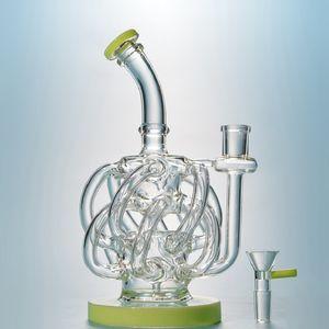 2018 neue Ankunfts-einzigartiges Design 12 Recycler Rohr Glas Bong Vortex Recycler Wasserpfeifen Super-Zyklon, Glas, Wasser Bong Inline Perc Bong XL137
