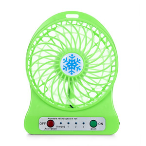 NEW Multifunctional Portable Rechargeable Led Light Fan Air Cooler Mini Desk Usb 18650 Battery Fan Hot Sales Free Shipping