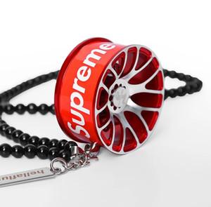3 couleurs de roue en métal voiture suspendus nouveau haut de gamme pendentif bijoux de mode de personnalité pendaison de voiture de sport automobile Voiture Pendentif à l'homme Hangs