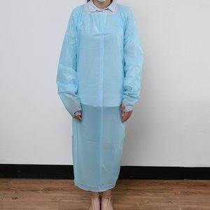 CPE Vêtements de protection à usage unique Isolation Robes Vêtements Suits élastique Manchettes anti-poussière tablier Vêtements de protection extérieur ZZA2127