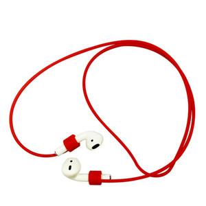 Para Apple Airpods cable de correa antipérdida Silicona TPU Suave para cápsulas de aire bluetooth Earphone candy colors accesorio para teléfono celular al por mayor