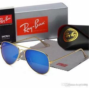 High Quality Ray3016ban Sunglasses Vintage Pilot Band UV400 Protection Mens Womens Men Women Ben wayfarer sun glasses with box
