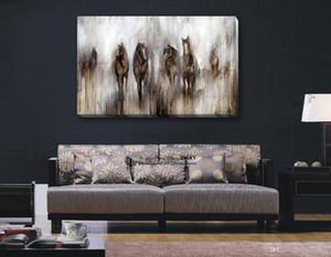 Stampa HD dipinta a mano Pittura a olio astratta di arte animale Cavallo su tela Wall Art Home Decor Multi alta qualità a146
