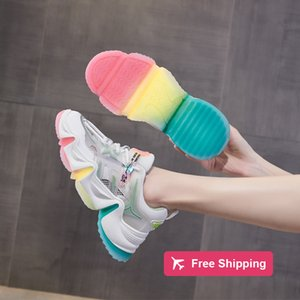 fashion designer Daddy women 2020 summer new breathable mesh casual wild absor bing film substrate Korean jelly shoes