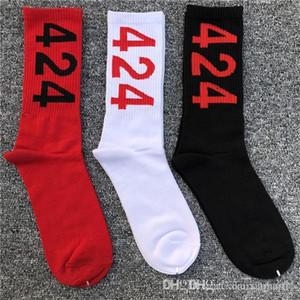 Solide Couleur Mens Fashion Designer Socks Numéro Lettre Homme Couple Vêtements Imprimer Hip Hop Vêtements décontractés