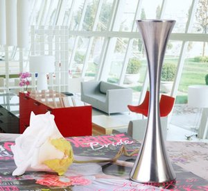 Avrupa Tek Yuvarlak Liman Çiçek Vazolar Moda Paslanmaz Çelik Vazo Ev Dekor Süsler Oturma Odası için Aksesuarlar