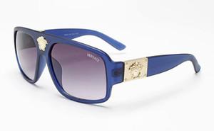 1 Tasarım kadın ve erkekler için güneş gözlüğü açık moda retro sürücü metal yarım çerçeve düz lens ile güneş camı kılıf