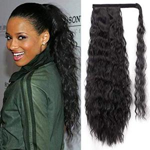 Киара длинный хвост наращивание волос 1 шт шиньон человека обернуть вокруг конский хвост клип в наращивание волос для девушки леди женщина 140г