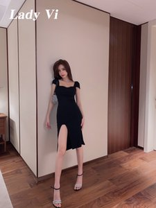 2020 New Summer Nightclub Women's Dress Sexy Tight Package Hip Occasion Dress Party Dress High Split Prom Gown