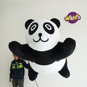 Ая Длина висячей Надувной Panda С Airblower Для 2019 Рекламы Рождества Надувного Этапа Parade Декора событий