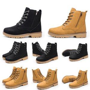 New Fashion Hotsale Para Homens Mulheres Half Plano Martin Casual Botas de couro preto Sneakers Amarelo Tamanho 39-46