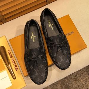 19ss Marca preguiçosos 2019 Mens real de couro do escritório Drivers Sapatos Flats Femininos Outono / Primavera casual sapatos para homem Sapato