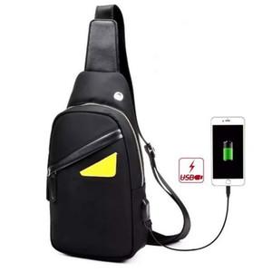 Новые мужчины Оксфорд глаз Crossbody messenger дизайнер сумки груди пакет мужская мода путешествия повседневная телефон бюст кошельки черный / серый / камуфляж черный