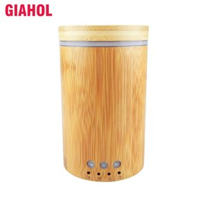 150ml Echt Bambus Ultraschall-Luftbefeuchter mit LED-Leuchten Ätherisches Öl Diffuser Electric Mist Maker für Auto-Haus