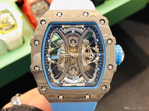 Diseñador LCD13 relojes serie Pablo Mac Donough RM53-01, Movimiento relojes caso de fibra de carbono TPT, el movimiento al oeste de la ciudad de hierro, hueco suspensión