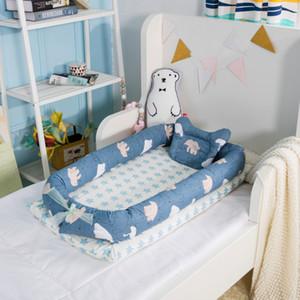 Berço do bebê portátil para cama bebê espreguiçadeira para berço recém-nascido respirável e sono ninho com travesseiro