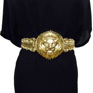 Goldene taille gürtel mode frauen metall breiten bund weiblichen markendesigner damen gürtel für kleid