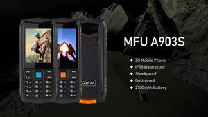 """Мобильные телефоны MFU A903S 3G WCDMA IP68 Водонепроницаемый пылезащитный 2.8 """"2700 мАч Факел FM Bluetooth Двойная камера Двойная SIM-карта Сотовые телефоны 2019 новый ар"""