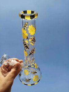 Bee 2020 Стекло Бонги Beaker База Бонг курить Водопроводные трубы Downstem Проц Bubbler воды Bongs кальяны с 18мм Bowl