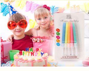 10 pièces / set magique Bougies Relighting drôle d'anniversaire Bougies Fête de cuisson bricolage gâteau d'anniversaire Decors gros