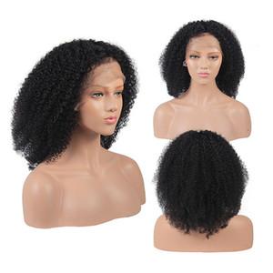 Afro Kinky Curl Dentelle Perruque 13 * 4 13 * 6 Dentelle Perruque Frontale Naturel Cheveux Noir 130% 150% Densité Perruque de cheveux humains pour femmes