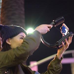 Freeshipping ميكروفون dslr تلاعب المحمولة كاميرا استقرار steadicam الهاتف الذكي فيديو steadycam أدى ضوء لنيكون كانون اي فون