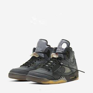 Nike Aj 5 Hocoal 2020 nouvelles chaussures de basket-ball Hommes Off 5 5S sport blanc concepteur de haute qualité des formateurs Xshfbcl