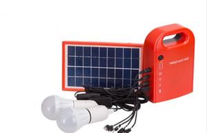 휴대용 태양열 주택 시스템 에너지 키트는 4 in 1 USB 케이블을 포함합니다 조명 및 충전을위한 태양 전지 패널 2 개의 램프 LLFA