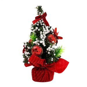 20CM Mini Albero di Natale Holiday Mall Decorazioni Desktop Ornaments Piccolo albero