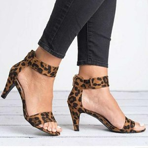 Hot Sale-Spring-Frauen-Pumpen-Veloursleder-Leopard-Plattform Büro-Damen Sandale Schuhe Sapato Feminino