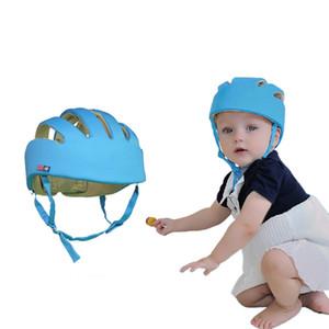 Chapéus do bebê Crianças Andando Patinando Protetor de Cabeça Caps Safty Moda Ajustável Tecido de Algodão Headguard Crianças Meninos Meninas Capacete Q190521