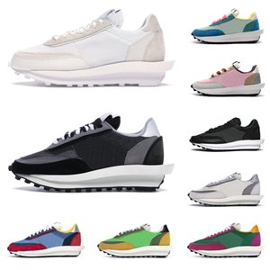 2020 nike sacai LD waffle shoes uomo donna scarpe da corsa Summit Bianco nero Nylon Pino verde blu Multi fashion sports sneaker runner size 36-45