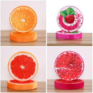 3D Meyve PP Pamuk Yuvarlak Yastık Ofis Koltuğu Geri Minderleri Kanepe Atmak Yastıklar Ev Dekoratif Yastıklar 38 cm