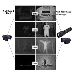 VASTFIRE IR 850nm Zoomable Jagd Licht Infrarot-Strahlung Nachtsicht Taktische Taschenlampe + 18650 Akku + Ladegerät
