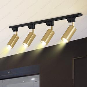 Moderne Métal Or Rotating Spotlights plafond Lampe LED Pendant Light Applique murale Projecteur Vestiaire Suivre Fond clair Livraison gratuite