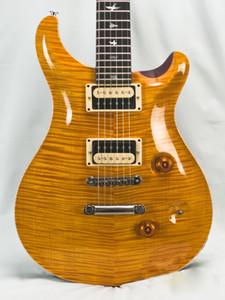 Costume 24 Eléctrico amarelo Vintage guitarra limitada Trans Amarelo Paulo top quilt padrão China Guitars