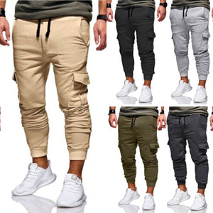 Fashion New Trousers Men HOT Men's Casual Cargo Pants Fitness Gym Trousers Running Joggers Gym Tracksuit Cargo Pants Men