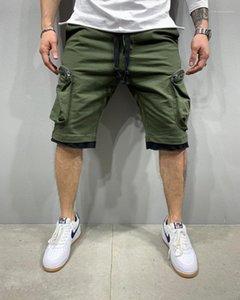 Pants Fashion Multi Pocket Knee Length Trousers Mens Hip Hop Designer Shorts Summer Casual Drawstring Sport