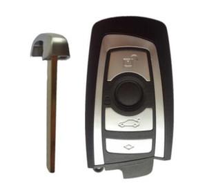 Llave automática de alta calidad para bmw key cover CAS4-F plataforma 5 serie 4 botones remoto shell -HU100R (Negro)